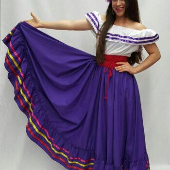 falda de practica con listones