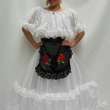 vestido de veracruz sencillo